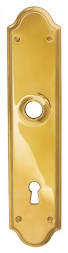 Back plate - Rounded brass