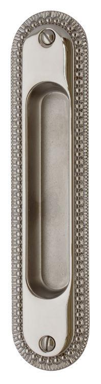 Sliding door handle - Sekelskifte nickel 158x36 mm