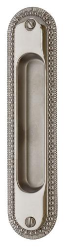 Sliding door handle - Sekelskifte nickel 158x36 mm - oldschool style - vintage interior - retro - old classic interior style