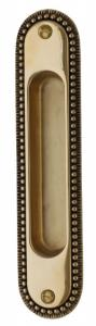 Sliding door handle - Sekelskifte brass 158x36 mm