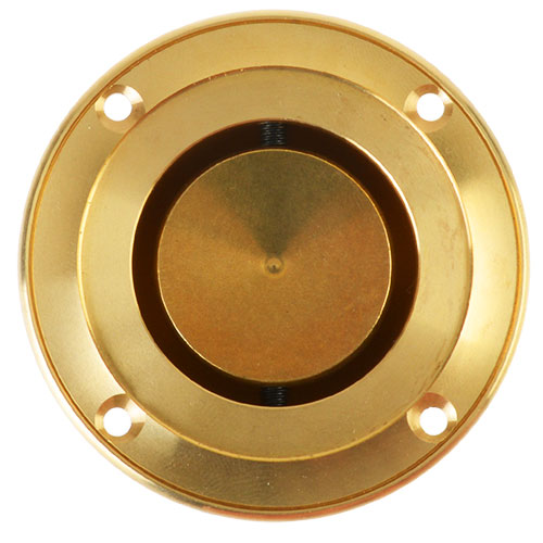 Round sliding door handle - Næsman 168 brass - old style