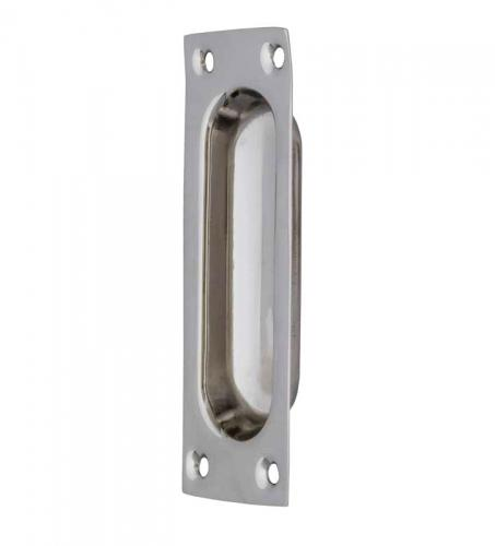 Sliding door handle - Nickel 95x34 mm