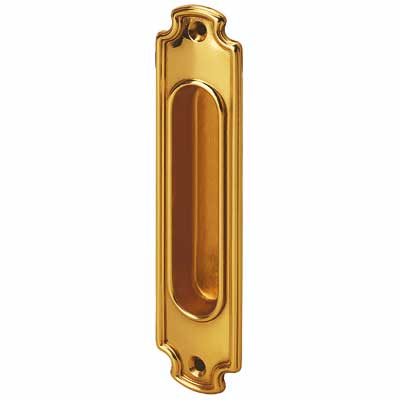 Sliding door handle - Linnéstaden brass 160x37 mm