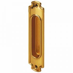 Sliding door handle - Linnéstaden brass 160x37 mm