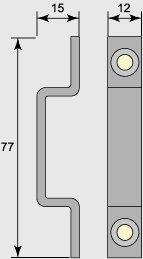 Skåp- & Garderobslås - Th Adolfsson 239 - sekelskifte - gammaldags inredning - retro - klassisk stil