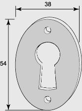 Nyckelskylt till kammarlås - F.A. Stenman oval - sekelskifte - gammaldags inredning - retro - klassisk stil