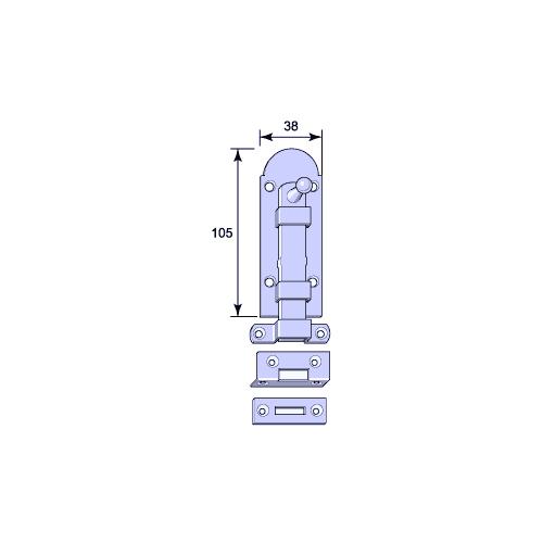 Skottregel - Aug. Stenman 612, stål 105 mm