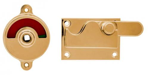 WC lock no 4 - Brass