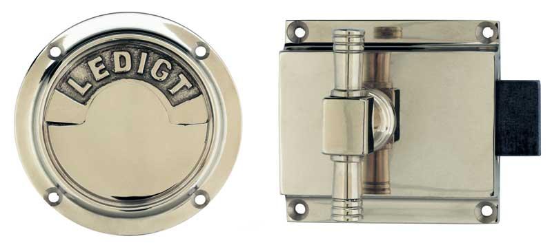 WC lock round - Toilet latch nickel