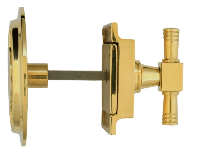WC lock round - Toilet latch brass - vintage interior - retro - classic interior - old fashioned