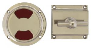 WC lock round for modern door - Toilet latch nickel