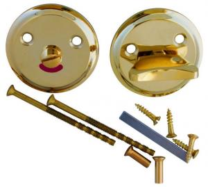 WC lock - Round brass