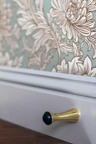 Door stop - Brass 65 mm