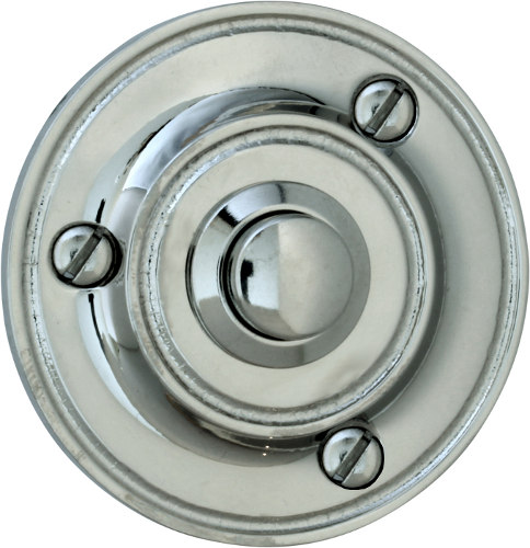 Bell Push - Round nickel-plated brass