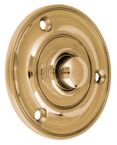 Bell Push - Round brass