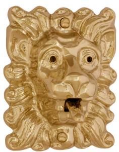 Bell Push - Lion tounge brass