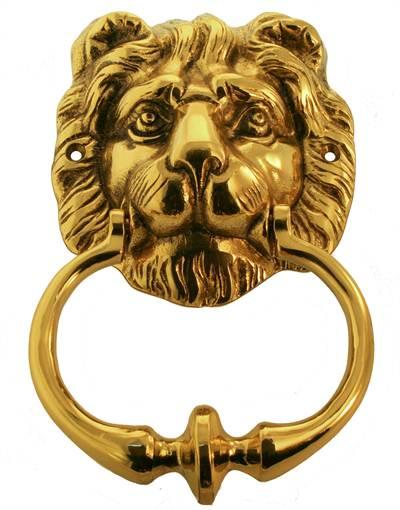 Door Knocker Lion Head Brass Classic Old Style
