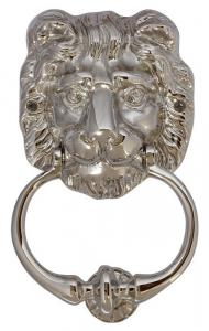 Door Knocker - Lion head nickel