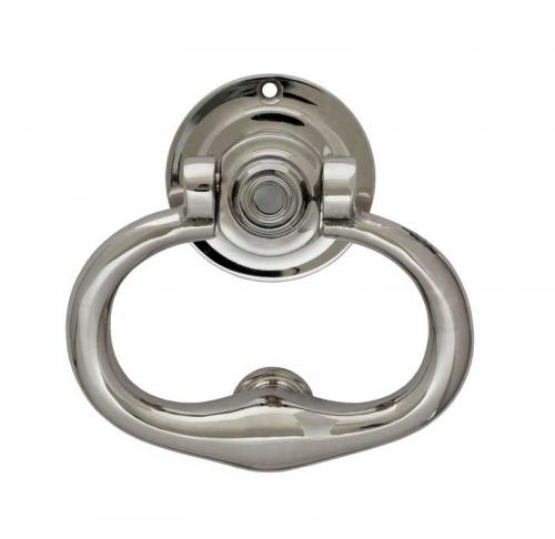 Door Knocker - Round nickel