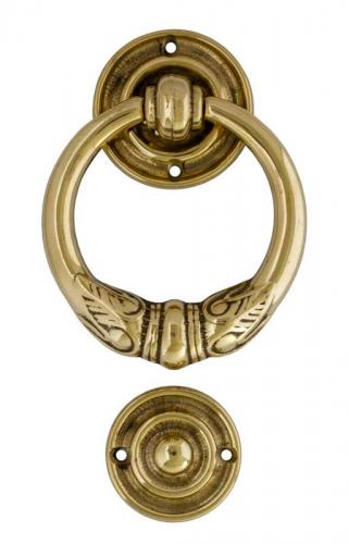 Door Knocker - Round jugend brass