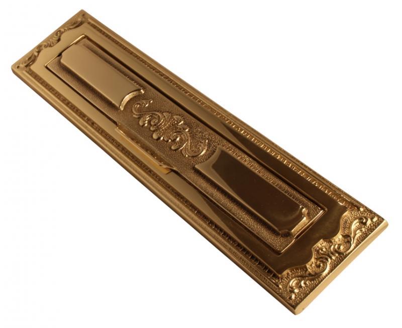 Mail drop - brass 1900