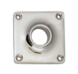 Door Handle Rosette - Squared nickel, 43 mm