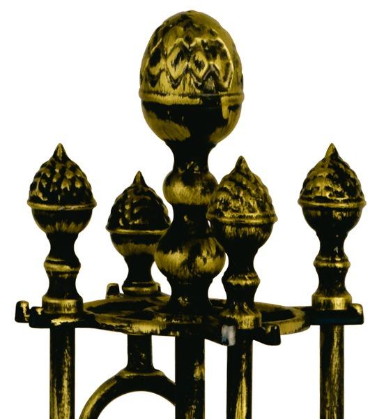 Eldgaffelset mässing - Antik - sekelskifte - gammal stil - klassisk inredning - retro