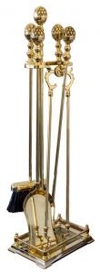 Fire tool set brass - Djursholm
