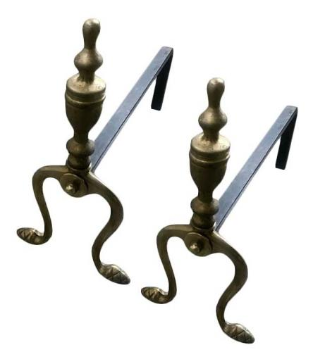Fire Dog antique brass - Pokal, one pair