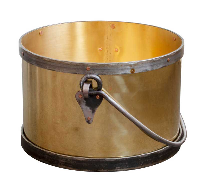 Log holder - Brass/iron pot