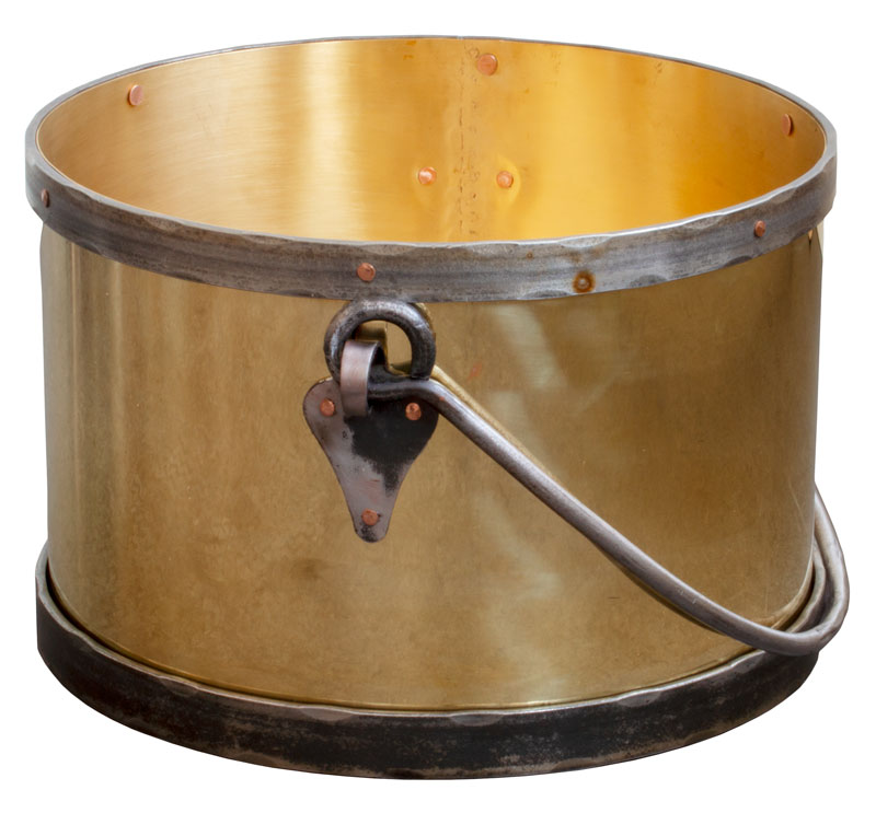 Firewood log bucket - Brass / forging large d = 45 cm
