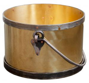 Firewood log bucket - Brass / forging large d = 45 cm