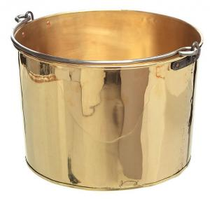 Firewood log bucket - Brass 38 cm