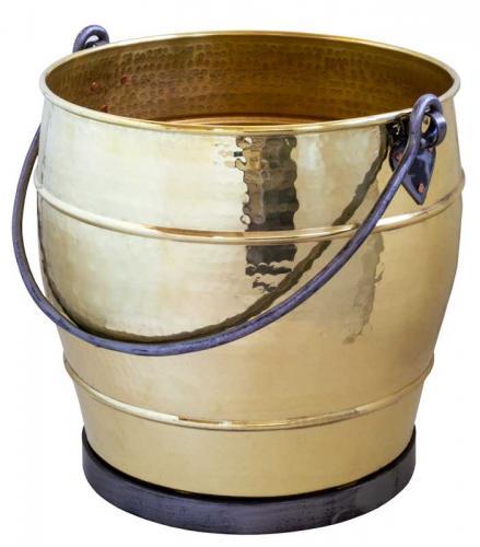 Vedkurv - Vedbøtte Sekelskifte messing/smijern