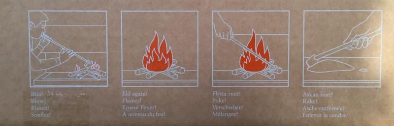 Flamman - Blåsrör i gjutjärn - retro - klassisk inredning - gammaldags stil - tidstypisk inredning