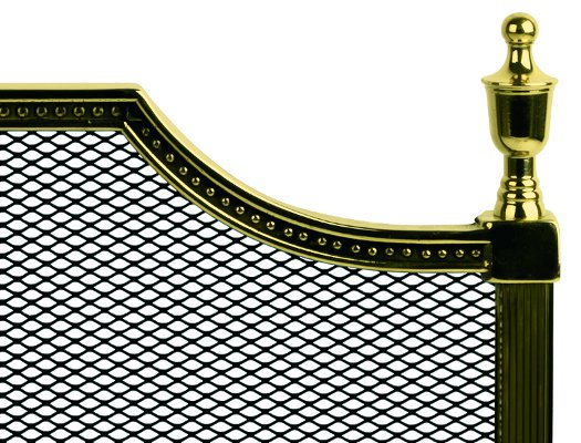 Fire Guard brass - Gustaf - old style - vintage style - classic interior - retro