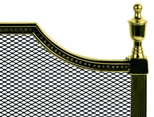 Gnistskydd mässing - Gustaf - sekelskifte - gammaldags stil - klassisk inredning - retro