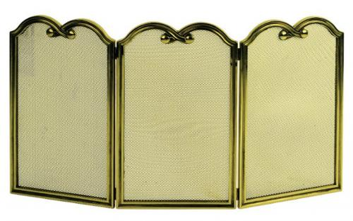 Gnistskydd mässing - Kringla - sekelskifte - gammaldags stil - klassisk inredning - retro