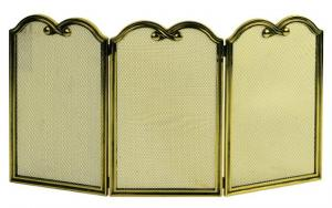 Fire Guard brass - Kringla - old style - vintage style - classic interior - retro