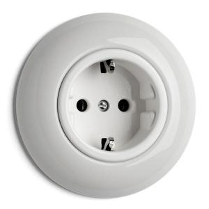 Outlet - Single porcelain - old style - vintage interior - old fashioned - classic style