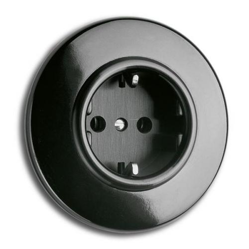 Outlet - Single round bakelite