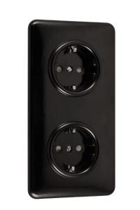 Double outlet - bakelit - old style - vintage interior - old fashioned - classic style