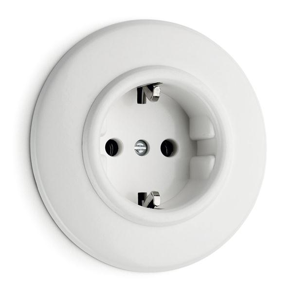 Outlet - Single in duroplast