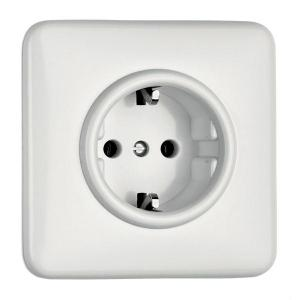 Outlet - Single square in duroplast - old style - vintage interior - old fashioned - classic style