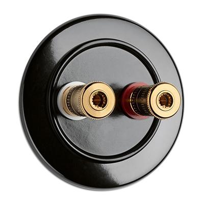 Speaker wall socket - Bakelite WBT