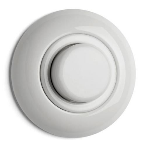 Switch round porcelain - dimmer 20-500W - old style - vintage interior - old fashioned - classic style