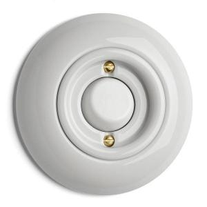Switch round porcelain - Push-dimmer