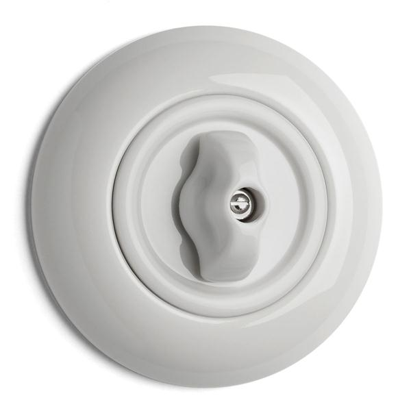 Switch round porcelain - Rotary switch alternation - old style - vintage interior - old fashioned - classic style
