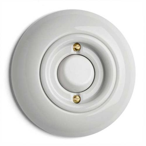 Porcelain Switch - Round toggle switch crossbar - old style - vintage style - retro - classic interior