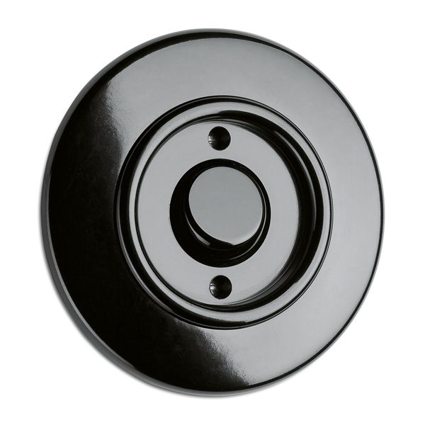 Control switch 1-pole round bakelite - toggle switch - old style - vintage style - retro - classic interior